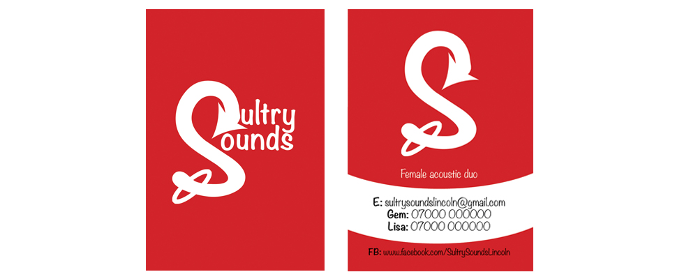 Business cards for Sultry Sounds
