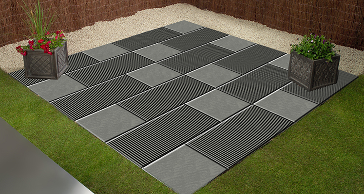 Ribbed paving concept