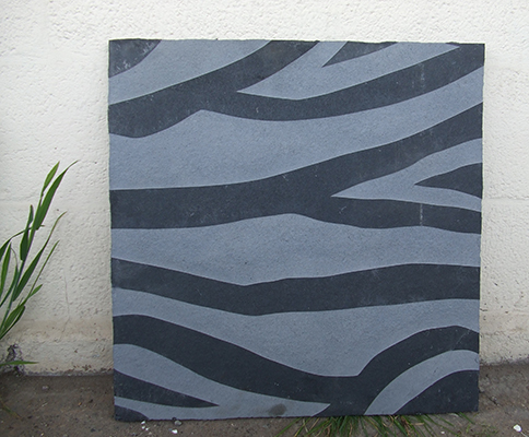 Animal print concept on Natural Limestone